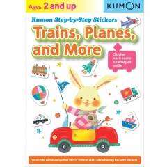 Kumon Trains Planes and More Step-By-Step Stickers