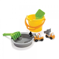 Dantoy - Sand Bucket Set with 2 Vehicles