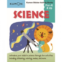 Kumon Science Sticker Activity Book Pre K and Up