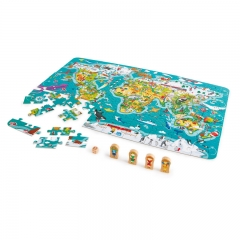 Hape 2-in-1 World Map Puzzle and Game