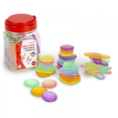 EDX Education Junior Rainbow Pebbles (Transparent)