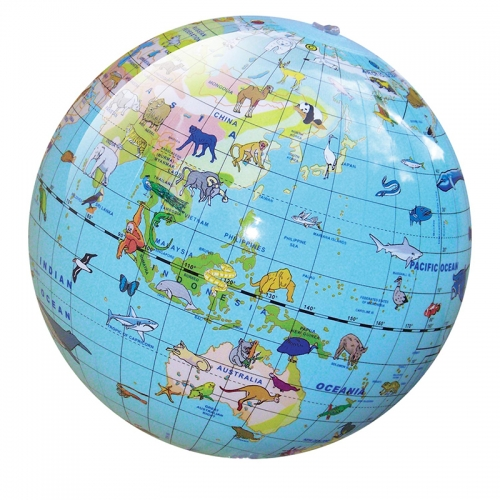 Tiger Tribe 30cm World Globe (Animal)