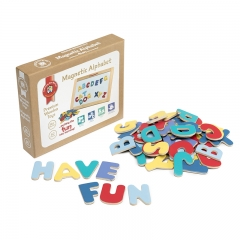 Wooden Magnetic Uppercase Letters (60 pieces)