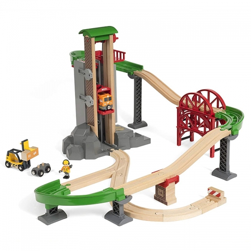 [PREORDER] Brio Lift and Load Warehouse Set 货运装卸站轨道套 [STOCK IN 04/01/2020]